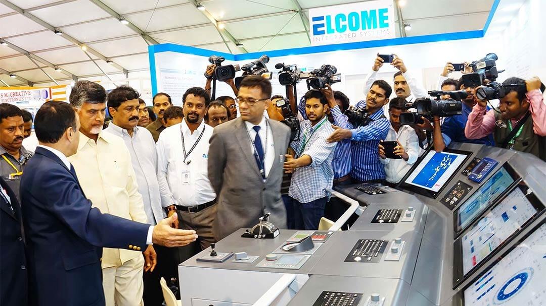 CM Chandrababu Naidu vists Elcome at IFR