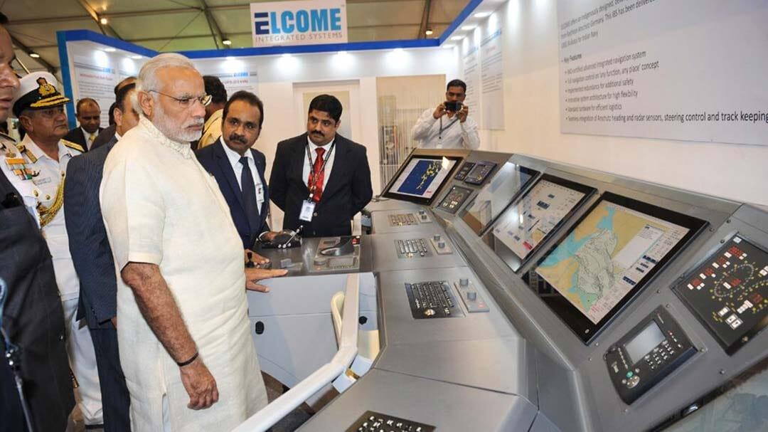Indian Prime Minister Modi visits Elcome at IFR